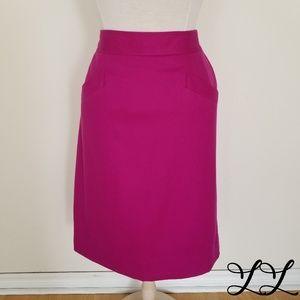 Vintage Liz Claiborne Wool Skirt Purple Pencil USA